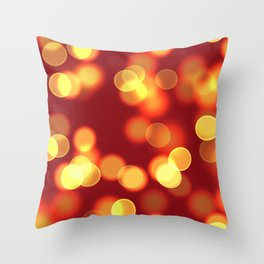 Soft lights Bokeh 4 Throw Pillow