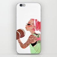 workout iPhone & iPod Skins featuring Workout Girl by TCFischer
