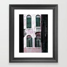Green Shutters Framed Art Print
