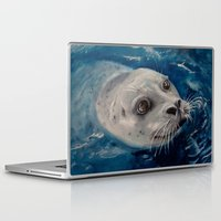 seal Laptop & iPad Skins featuring Seal by Andrea Vreken Art