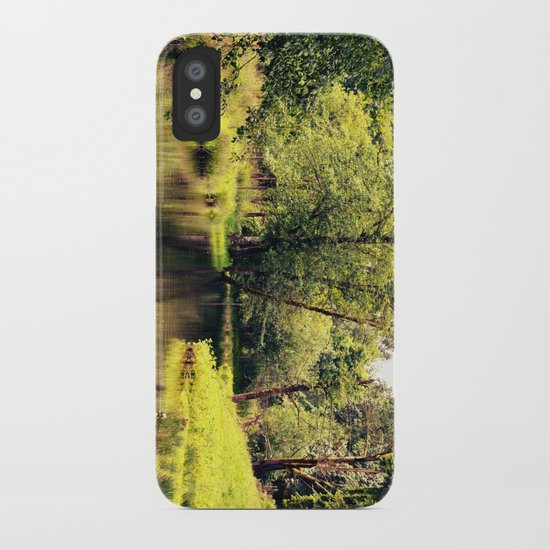 a tree by the river iPhone Case
