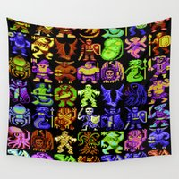 monsters Wall Tapestries featuring Monsters by noirlac
