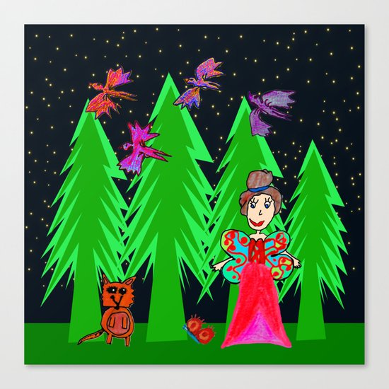 Night Fairy | Before Christmas | Kids Painting Canvas Print