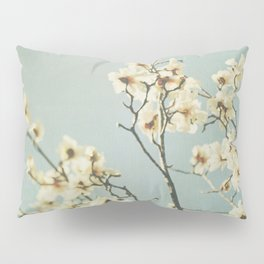 Magnolia blossoms. Mint Pillow Sham