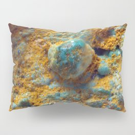Bubbly Turquoise with Rusty Dust Pillow Sham