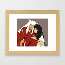 Inuyasha and Kagome Framed Art Print