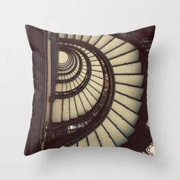 Chicago Rookery Building Staircase Color Photo Throw Pillow