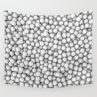 golf Wall Tapestries featuring Golf balls by GrandeDuc