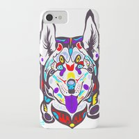 husky iPhone & iPod Cases featuring Husky  by PastelxPalette