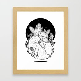 (un)loved sphynxes Framed Art Print