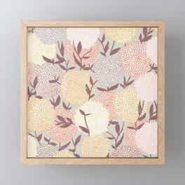 Pastel flowers Framed Mini Art Print