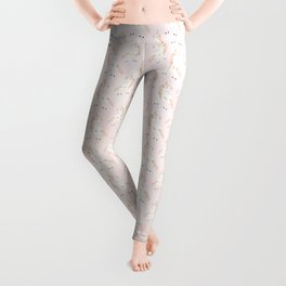 Believe Unicorn Subtle Pink Bokeh Dream Leggings