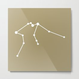 Aquarius (White & Sand) Metal Print