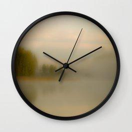 Misty Autumn Morning #decor #buyart #society6 Wall Clock