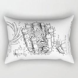 Jet Engine: Frank Whittle Turbojet Engine Patent Rectangular Pillow