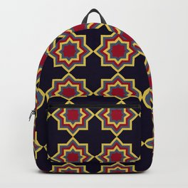 Moroccan Flare Geometric Seamless Pattern Backpack