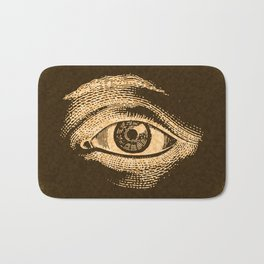 Grunge Vintage Eye Pattern Industrial Bath Mat
