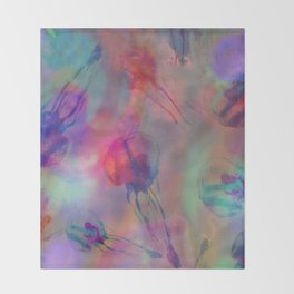 Electro Jellyfish Ball Throw Blanket