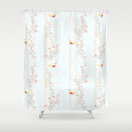 October Print Shower Curtain