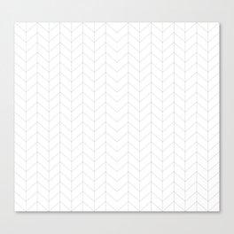 Herringbone Black and White Canvas Print