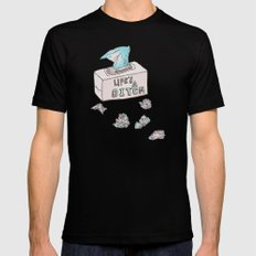 Lifes A Bitch Mens Fitted Tee MEDIUM Black