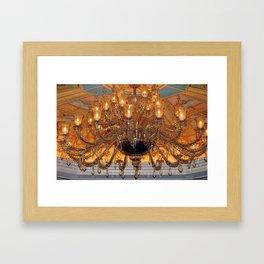 Chandelier Sparkle Framed Art Print