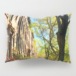 Cobble Hill Brooklyn New York in the Fall, Brownstones Pillow Sham