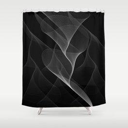 Black and White Flux #minimalist #homedecor #generativeart Shower Curtain