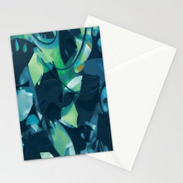 Black Leaves- Mixed Media Collage Detail Stationery Cards