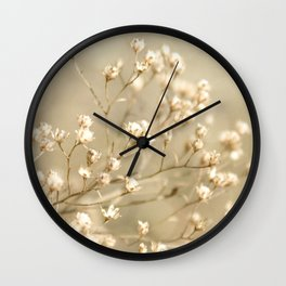 Softer I Botanical Flora Nature Neutral Tan Cream  Wall Clock