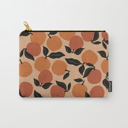 Seamless Citrus Pattern / Oranges Carry-All Pouch