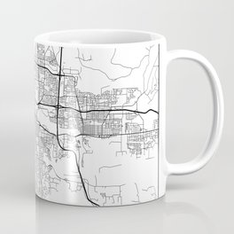 Minimal City Maps - Map Of Eugene, Oregon, United States Coffee Mug