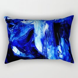 Dancing In Blue No. 1 by Kathy Morton Stanion Rectangular Pillow