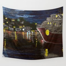 Moonlit Carenage Wall Tapestry