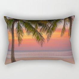 Tropical beach at sunset Rectangular Pillow