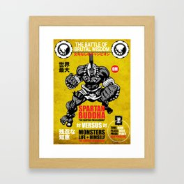 Spartan Buddha Fight Poster Framed Art Print
