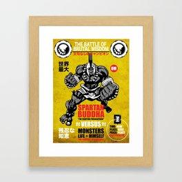 Spartan Buddha Fight Poster Framed Art Print