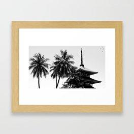 Pagoda Palms Framed Art Print