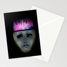 Hot Pink Purple Electric Hair  Stationery Cards