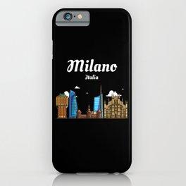 Milano Italia / Milan - Skyline Of The City Of iPhone Case