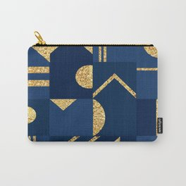 Abstract Geometric Glitter Shapes Carry-All Pouch