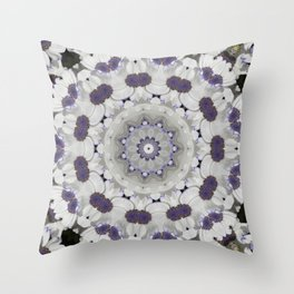 Flowers Purple and white Throw Pillow