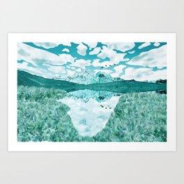 The turquoise lake Art Print