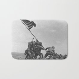 Iwo Jima Flag World War 2 Vintage Bath Mat