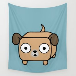 Pitbull Loaf - Fawn Pit Bull with Floppy Ears Wall Tapestry