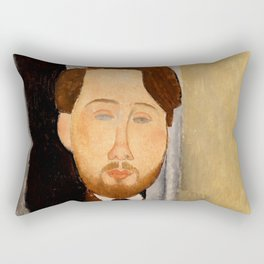 "Amedeo Modigliani ""Portrait of Léopold Zborowski"" Rectangular Pillow"