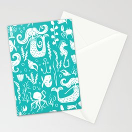 Under The Sea Aqua Stationery Cards