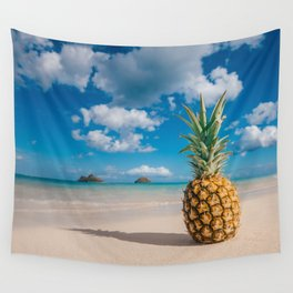Pineapple and the Mokes Wall Tapestry