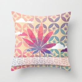 Colorful marijuana Throw Pillow