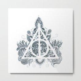 Mandala deathly hallows Metal Print
